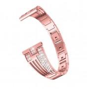 Sector Shape Diamond Metal Watch Band for Samsung Galaxy Watch 46mm / Gear S3 - Rose Gold