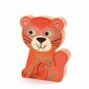 DJECO Drewniane Puzzle pionowe TUNGA dla dziecka, układanka figurki zwierzątka drewniane NOWOŚĆ 2014 DJ01263