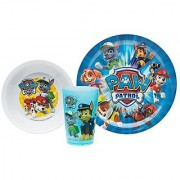 Zak! Designs Mealtime Set with Plate Bowl and Tumbler featuring Paw Patrol Graphics Break-resistant and BPA-free plastic 3 Piece Set