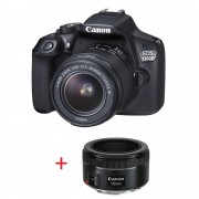 Canon EOS 1300D PORTRAIT KIT (EF-s 18-55 mm DC III + EF 50mm f/1.8 STM) + DSLR ENTRY Accessory Kit (SD8GB/BAG/LC) [AC1160C103AA_AC0033X090] + подарък (на изплащане)