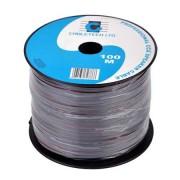Cablu coaxial difuzor 2x0.50 mm CCA 75 ohm Cabletech negru rola 100 m