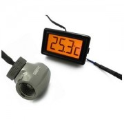 Senzor de temperatura XSPC LCD Temperature Display (Orange) V2 + G1/4 Inline Sensor