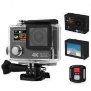 "Camera Sport Action EKEN H3R, Ultra HD 4K, 12MP, inregistrare 4K@25fps, lentile F2.0 170gr, display 2"" LCD + 0.95"" OLED, Wi-Fi, waterproof 30m, telecomanda wireless, negru"