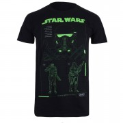 Geek Clothing Star Wars Death Trooper Schematic Heren T-Shirt - Zwart - S - Zwart