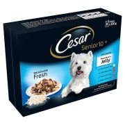 Cesar Pouch Senior 10+ Deliciously Fresh Selection in Jelly 8x100g