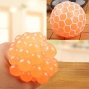 6cm Anti - Estres Relevista Extrusión Compresión Cara De Bola De Humor Sano Uva Socorro Gracioso Tricky Vent Toy (naranja)