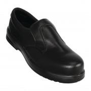 Lites Safety Footwear Lites Safety Slip On Black 43 Size: 43