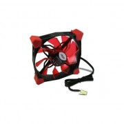 Ventilator Inter-Tech CobaNitrox Xtended N-120-R, 120mm, 1200 RPM, Red LED
