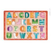 JANOD Puzzle drewniane Kolorowy alfabet,