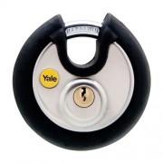 Lacat rotund din otel inox cu cheie Yale Y130/70/116/1