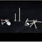 Waxinepitjes met pitvoet (100 mm) 25 st.