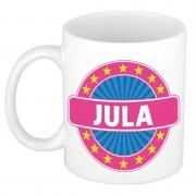 Bellatio Decorations Voornaam Jula koffie/thee mok of beker
