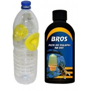 Capcană pentru viespi și gărgăuni- faceți singuri, cu umplutor BROS 200 ml.