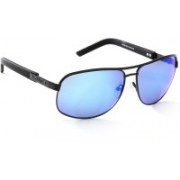 Guess Aviator Sunglasses(Brown, Blue)