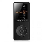 redcolourful RedColorful Reproductor de MP3 portátil multifunción de 8 GB y 70 horas de reproducción de sonido sin pérdidas, AVI Negro LJL-191227-CE-KSUS-220ED5E1A7