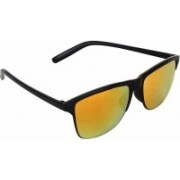 jazz style Wayfarer, Over-sized, Rectangular Sunglasses(Yellow)