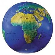 Replogle Globes Inflatable Topographical Globe Dark Blue Ocean 16-Inch Diameter