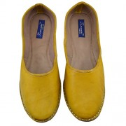 Tamanna Women'S Yellow Leather Formal Bellies, bellies for girls, girls bellies, bellies for women, women bellies, women footwear, juti for girls,footwear for women, chappals for women, casual bellies, bellies for girls, women's bellies, girl bellies, hee