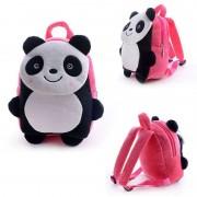 Cute Pink Smiling Panda Baby Bag Stuffed Soft Plush Toy