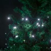 Fényfüzér - LED hidegfehér hálózati - 5 m 8 program