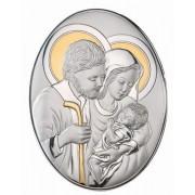Icoană Sacred Holy Family by Valenti cu Argint si Aur - Made in Italy