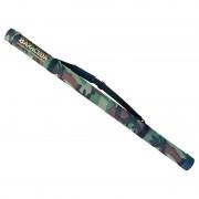 Geanta pescar tip tub transport lansete/undite Baracuda B6, diametru 7.5 cm, lungime 140 cm, verde