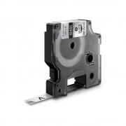 Etichete industriale autocolante DYMO ID1 poliester permanent 9mm x 5.5m negru argintiu metalic 18485