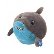 """Bright Eyes Stuffed Grey And Blue Shark Plush 8"""" By The Petting Zoo"""