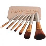 Trusa set 7 pensule pentru machiaj profesional Make-up Naked 5