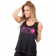 Gorilla Wear Odessa Cross Back Tank Top - Black/Pink - L