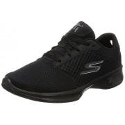 Skechers Performance Women's Go Walk 4 Exceed Walking Shoe, Black, 8 M US