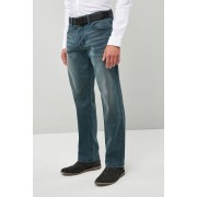 Next Loose Fit Stretch Belted Jeans - Loose Fit - Chalk - Mens Trousers