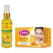 FEM DE-TAN BLEACH 30G - PR LEMON FACE WASH