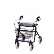 B-4258 Négykerekű, fékezhető, összecsukható guruló járókeret (rollátor)