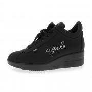 Agile by Rucoline Sneaker in microfibra con zip laterale e zeppa 4.5cm