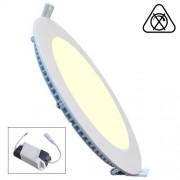 LED Paneel / Downlight Set 18w 3000k Warm Wit Rond Inbouw Slim Spatwaterdicht