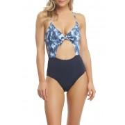 Tart Alexis Printed Monokini Swimsuit TIEDIENAVYCOMBO