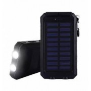 Baterie externa solara Army waterproof 10000mAh 2 sloturi USB pentru incarcare lanterna cu 3 faze