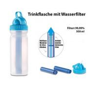 Trinkflasche mit Wasserfilter Pro, 500ml, Filterung 99,99%, bis 1.500L | Trinkflaschen Mit Wasserfiltern