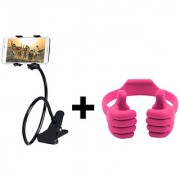 Buy 1 Lazy Mobile Holder For All Smart Phone GET Free 1 OK Stand For Smartphone Tablet Stand(Assorted Colors)