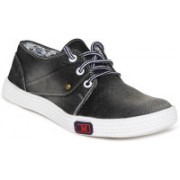 1 WALK 1 WALK MAPPLE COLLECTION ORIGINAL COMFORTABLE STYLISH WOMEN SHOES /SNEAKERS/COLLEGE WEAR/2018 LATEST COLLECTION/PARTY WEAR/CASUAL DRESSING WEAR/WEEDING WEAR-Black::Grey Casuals For Women(Black)