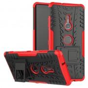 Capa Híbrida Antiderrapante para Sony Xperia XZ3 - Vermelho / Preto