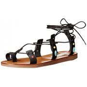 Steve Madden Women's Raae Gladiator Sandal, Black Multi, 6 M US