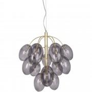 Globen Lighting Pendel Drops Mässing Rök Inkl G4