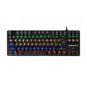 Teclado MARS GAMING mecânico Brown Switch, 87 Keys, 6 Backlights, 10 Lighting Effects-MK4MINIBRPORTU