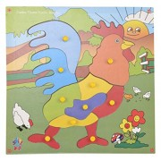 Skillofun Jumbo Theme Puzzle Rooster Knobs, Multi Color