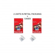 Lot Of 2 SanDisk 16GB SD SDHC Class 4 Flash Memory Camera Card SDSDB-016G-B35 Pack + ( 2 Jewel Cases ) …