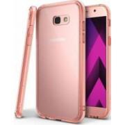 Skin Ringke Samsung Galaxy A5 2017 A520 Fusion Rose Gold + Bonus folie protectie display Ringke