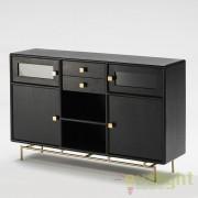 Servanta design lux neagra Blake 160cm 26434/20 TN