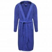 vidaXL Хавлиен халат за баня, унисекс, 100% памук, син, размер XL, 500 г/м²